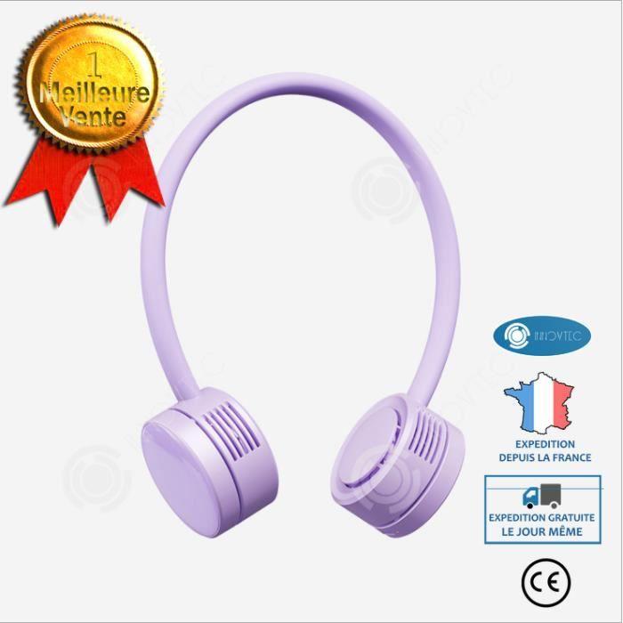 INN® Ventilateur à cou suspendu de qualité zéro Type-C portable à cou suspendu ventilateur extérieur petit ventilateur à cou suspend