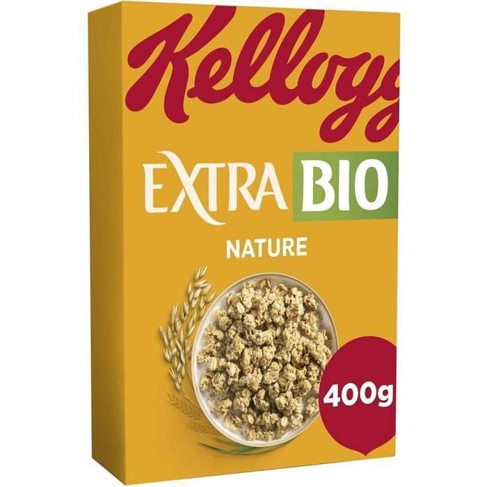 LOT DE 5 - KELLOGG'S EXTRA BIO CEREALES Nature 400 g