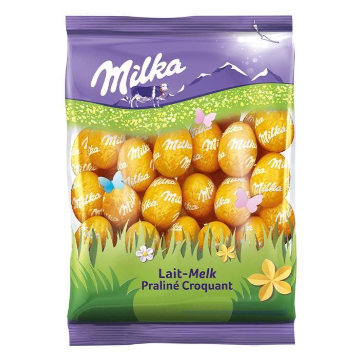 MILKA Chocolat Petits Oeufs Lait Praliné - 350 g