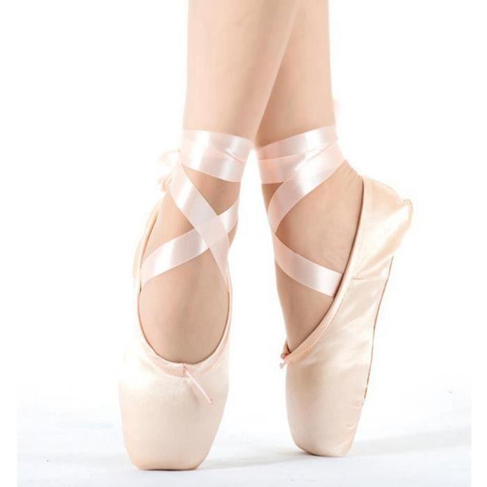 Tomatocart Enfant Et Adulte Ballet Pointe Chaussures De Danse Dames Professionnel Ballet Chaussures De Danse Avec Des Rubans Chaussu