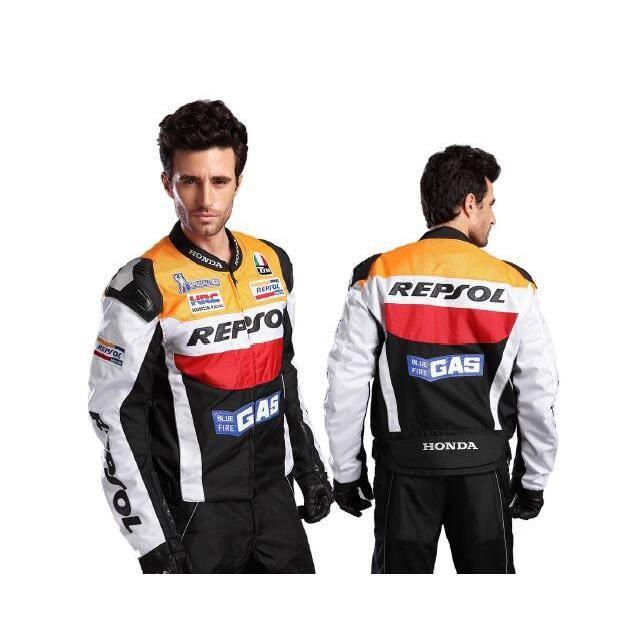 DUHAN® Honda 'Repsol' Blouson Moto Cross Textile Sport Jacket Avancé PU Cuir Homme