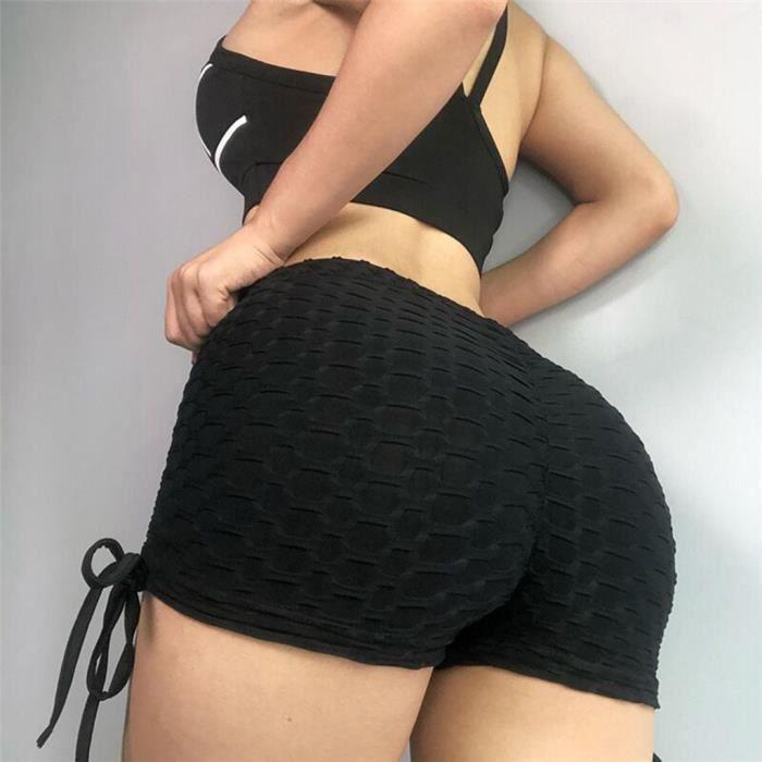 Short de running en coton pour femme Yoga Jogging Pantalon chaud anti-éclairage LLI90416005WH_812