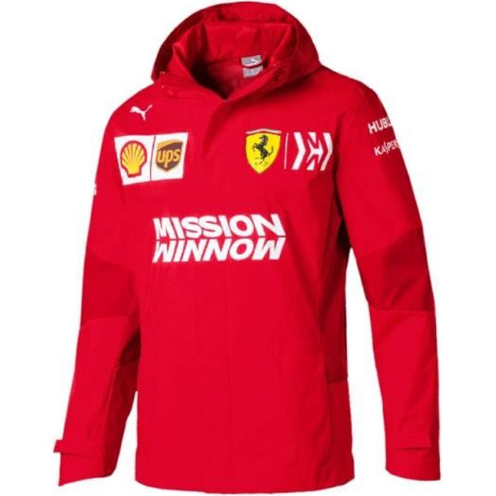 Veste Jacket Zip Puma Ferrari Scuderia Racing Team F1 Officiel