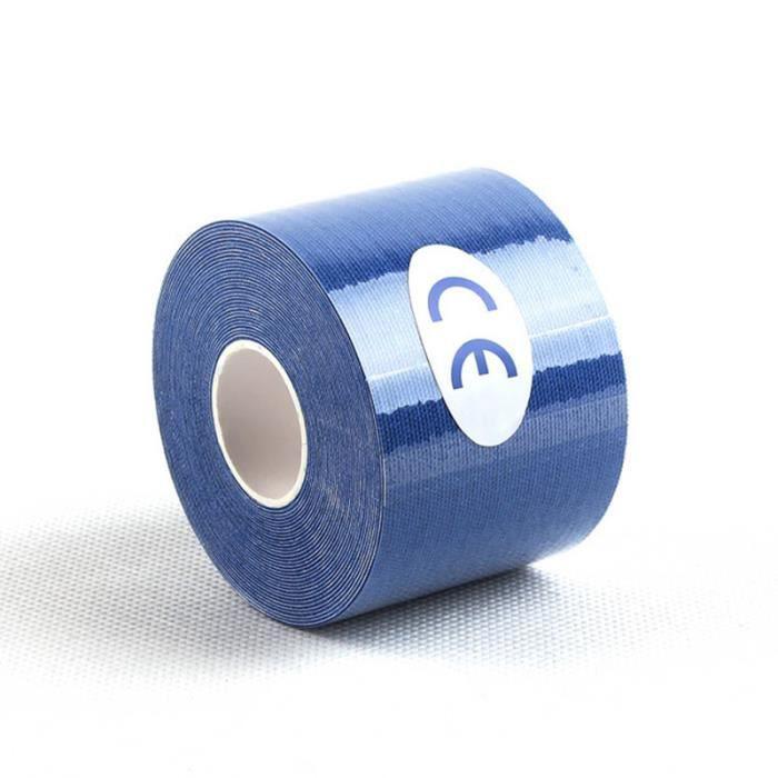 PROTEGE-CHEVILLES - CHEVILLERE,Kinésiologie bande élastique coton rouleau adhésif bande Muscle blessure - Type Deep Blue-2.5x5cm