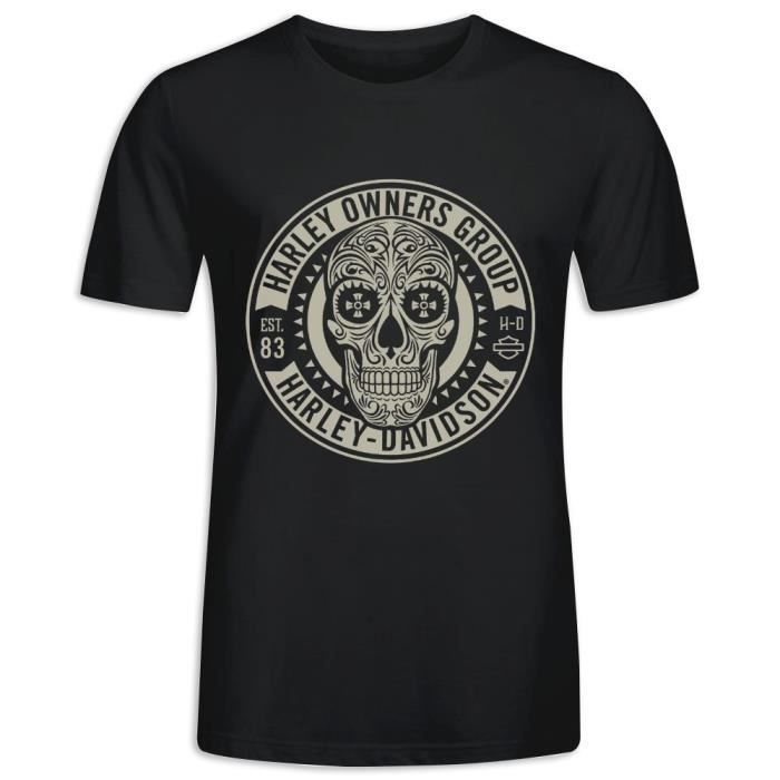 Tee Shirt avec imprimé en Harley Owners Group Manche Courte T-shirt Homme