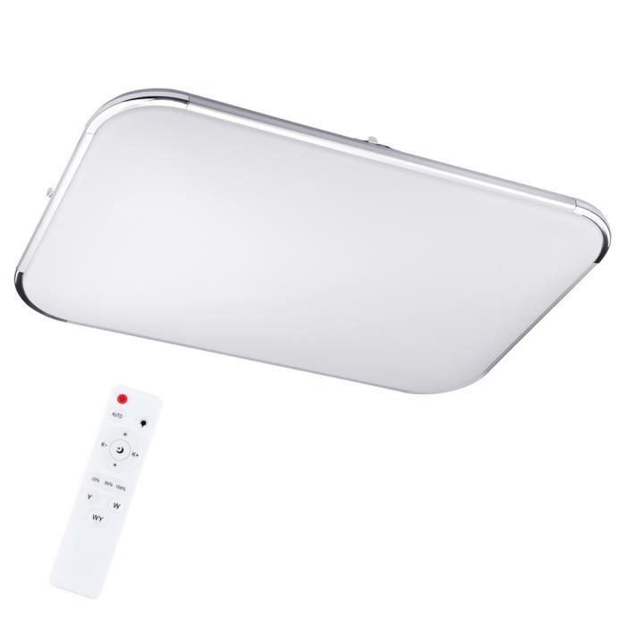 Plafonnier LED ultra-mince 64w Gradable en continu avec télécommande 185-265V