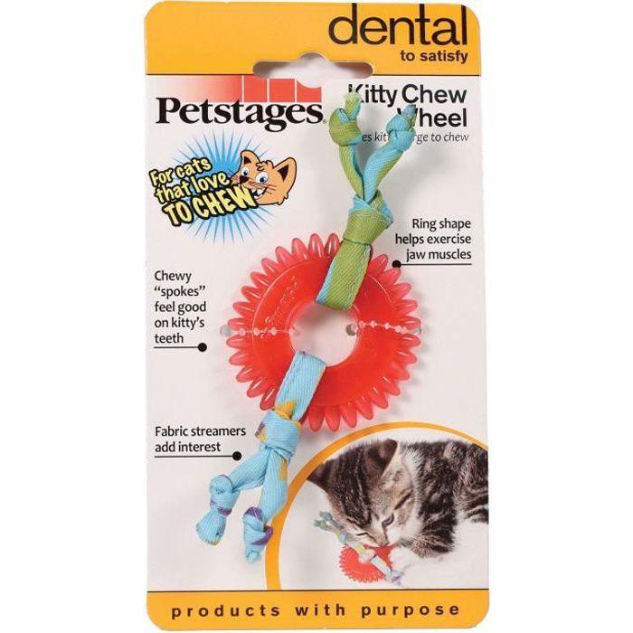 Jouet à mâcher soin des dents pour chat Kitty Chew Wheel - PETSTAGES