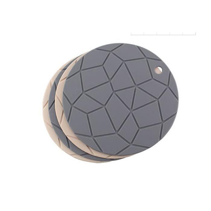 Napperon en silicone isolant thermique anti-dérapant épaissir le tapis de pot de de bol pour la maison ASSIETTE - PLATEAU REPAS
