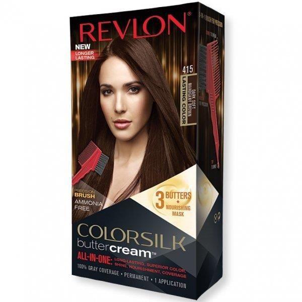 REVLON - Coloration Permanente Butter Cream COLORSILK - 415 Brun Acajou Doux FoncéRevlon