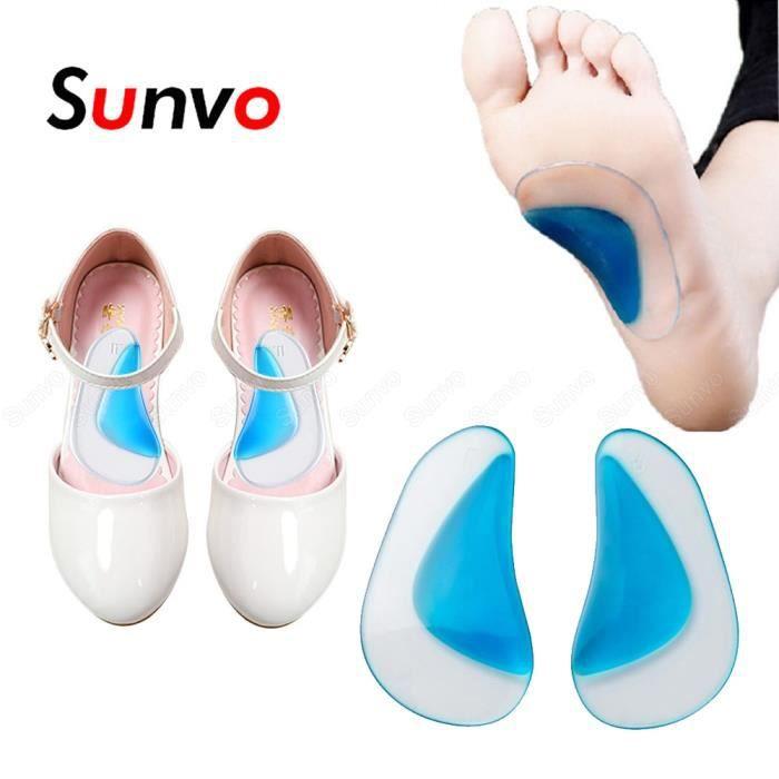 S -semelles orthopédiques en Silicone pour enfants,correcteur pour enfants,soins des pieds plats,Support d'arc,semelles orthopéd