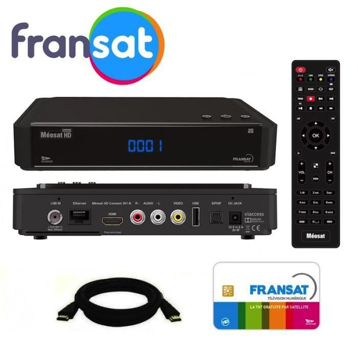 decodeur satellite hd carte fransat satellite eutelsat 5w cable hdmi offert recepteur tv. Black Bedroom Furniture Sets. Home Design Ideas