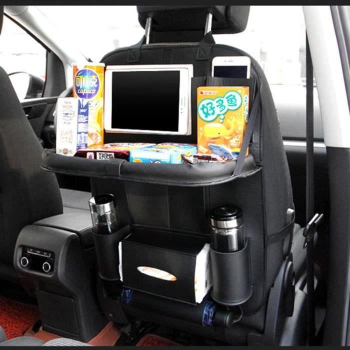 Cuir voiture siège arrière organisateur sac de rangement avec porte-gobelet