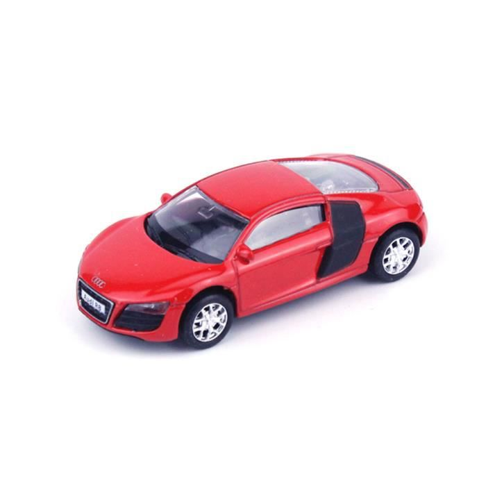 haut de gamme rmz city audi r8 rouge 3 chelle 1 64 gz354996 mini voiture de collection. Black Bedroom Furniture Sets. Home Design Ideas