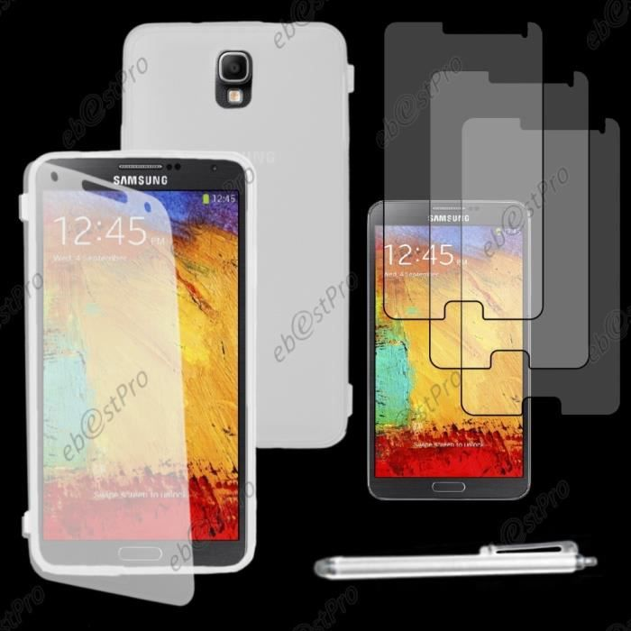 coque gel rabat samsung galaxy note 3 lite sm n7505 transparent stylet 3 film achat coque. Black Bedroom Furniture Sets. Home Design Ideas