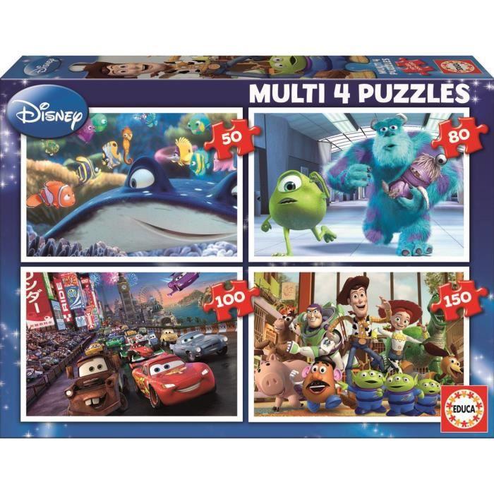 PUZZLE EDUCA - Disney Pixar - Puzzle multi 4 en 1 : Nemo