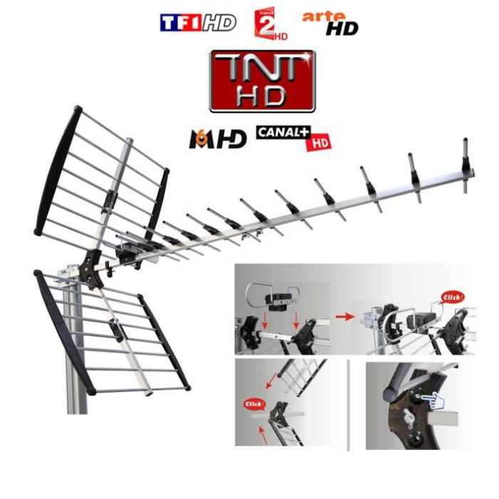 antenne tv exterieure uhf tnt achat vente antenne antenne tv exterieure uhf cdiscount. Black Bedroom Furniture Sets. Home Design Ideas