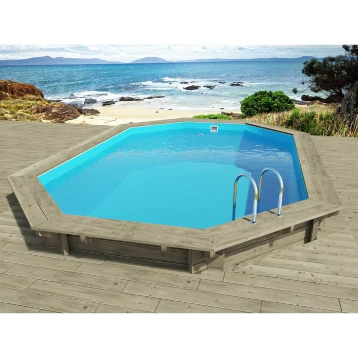 Piscine bois florida x x m achat for Piscine enterree en kit