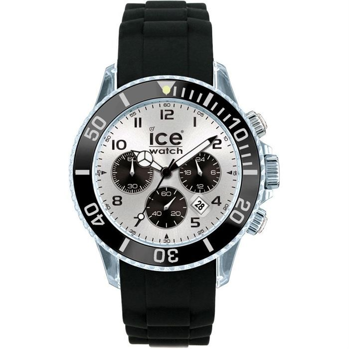 ice watch montre chronographe big mixte noir achat vente montre cdiscount. Black Bedroom Furniture Sets. Home Design Ideas