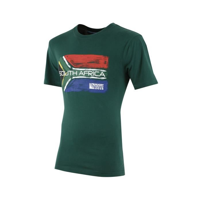 t shirt afrique du sud coupe du monde 2015 vert multicouleur achat vente t shirt cdiscount. Black Bedroom Furniture Sets. Home Design Ideas