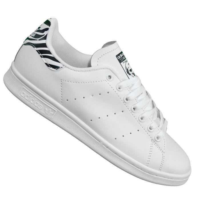 new concept 6d6ff 1caeb Adidas Originals - Baskets - Stan Smith Zebra - Blanc Noir rayé