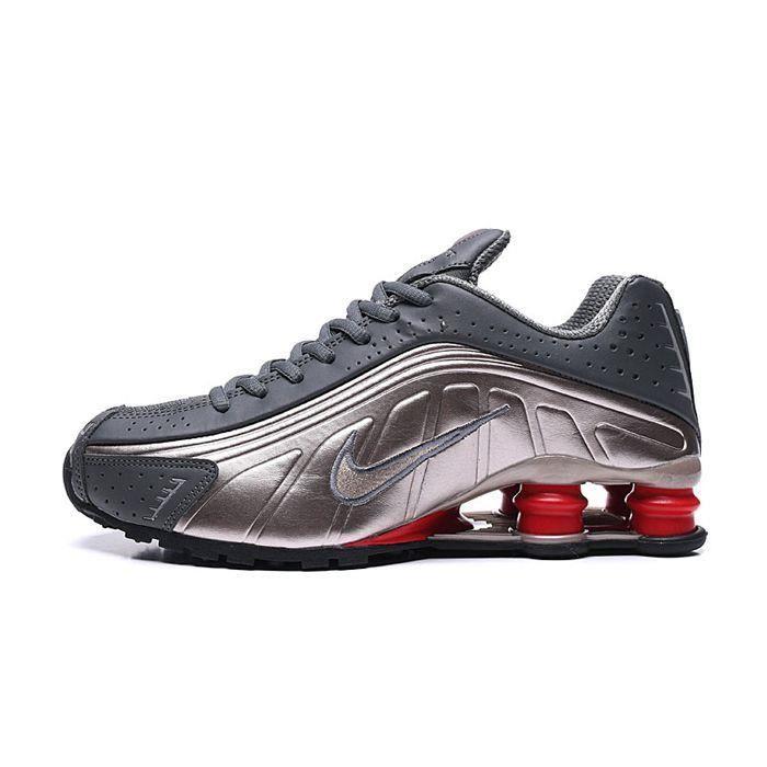 performance sportswear big sale new cheap Nike Shox R4 Chaussures de course - Homme - Gris Carbone-Bronze ...