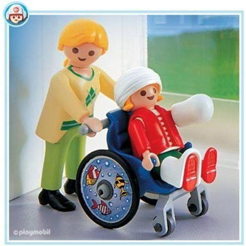 UNIVERS MINIATURE Playmobil - Hôpital - Maman Enfant Faut. roulant