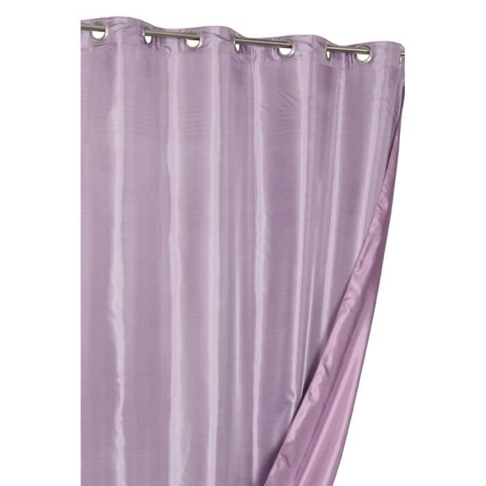 rideau reversible aspect soie violet mauve achat vente rideau cdiscount. Black Bedroom Furniture Sets. Home Design Ideas