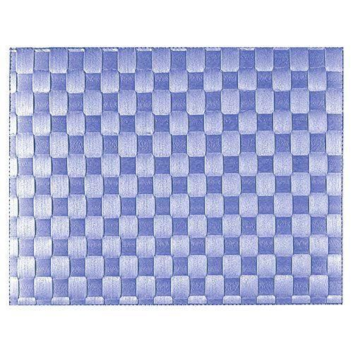 Saleen 2038609 set de table rectangulaire bleu 30 x 40 cm for Set de table bleu