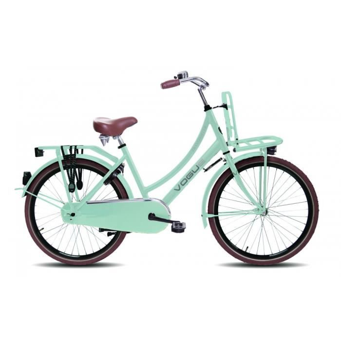 velo de ville fille retro transporter bleu pastel 24 pouces 2015 prix pas cher cdiscount. Black Bedroom Furniture Sets. Home Design Ideas