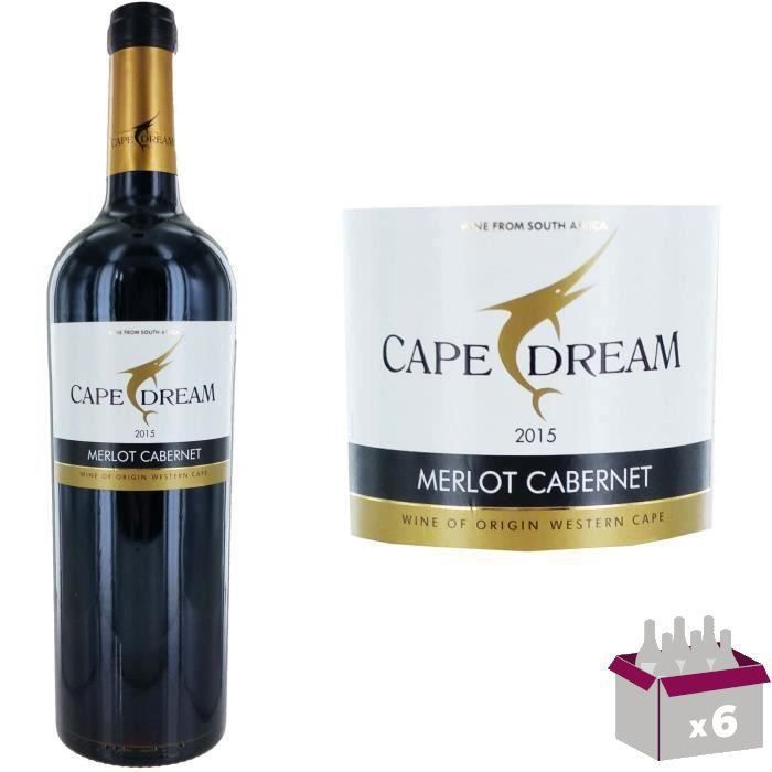 Cape Dream 2015 Merlot Cabernet - Vin rouge d'Afrique du Sud