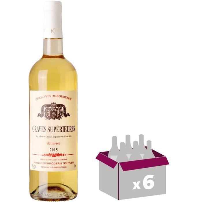 Graves Supérieures 2015 Bordeaux - Vin blanc de Bordeaux