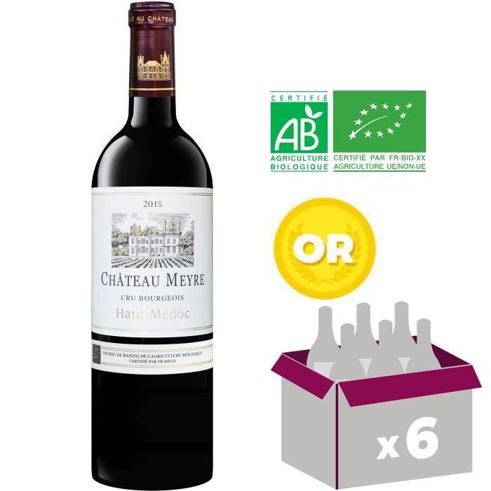 CHÂTEAU MEYRE 2015 Haut Médoc Cru Bourgeois Vin Rouge - BIO - 75 cl x6 - Médialle d'Or Lyon 2017