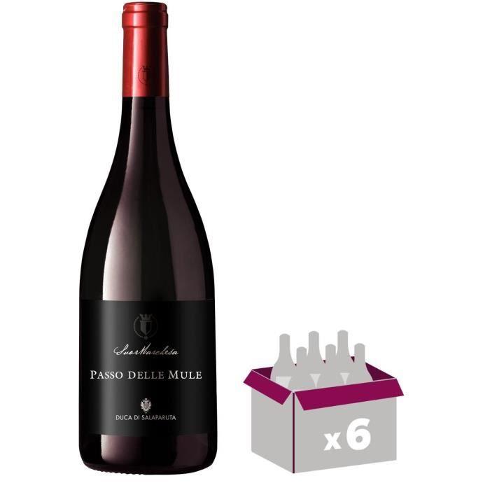 PASSO DELLE MULE CORVO 2015 Terre Sicilia Nero d'Avola Vin d'Italie - 6x 75 cl - IGP