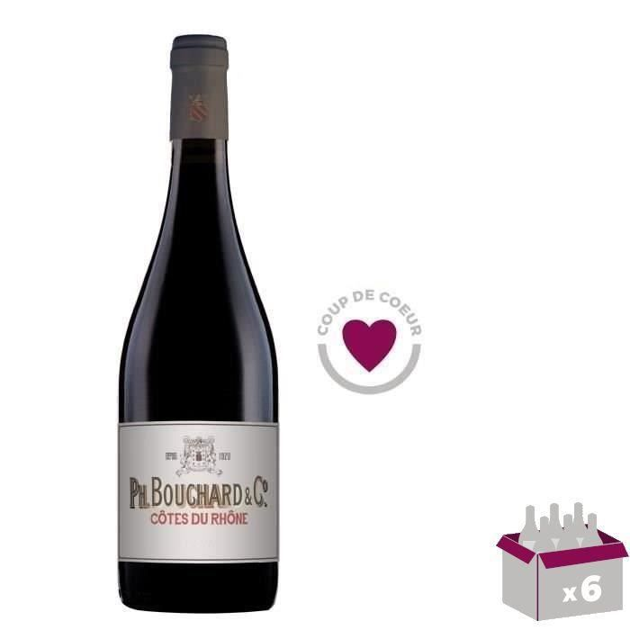 4 ACHETEES = 2 OFFERTES Bouchard & Cie 2018 Côtes du Rhône - Vin rouge de la Vallée du Rhône