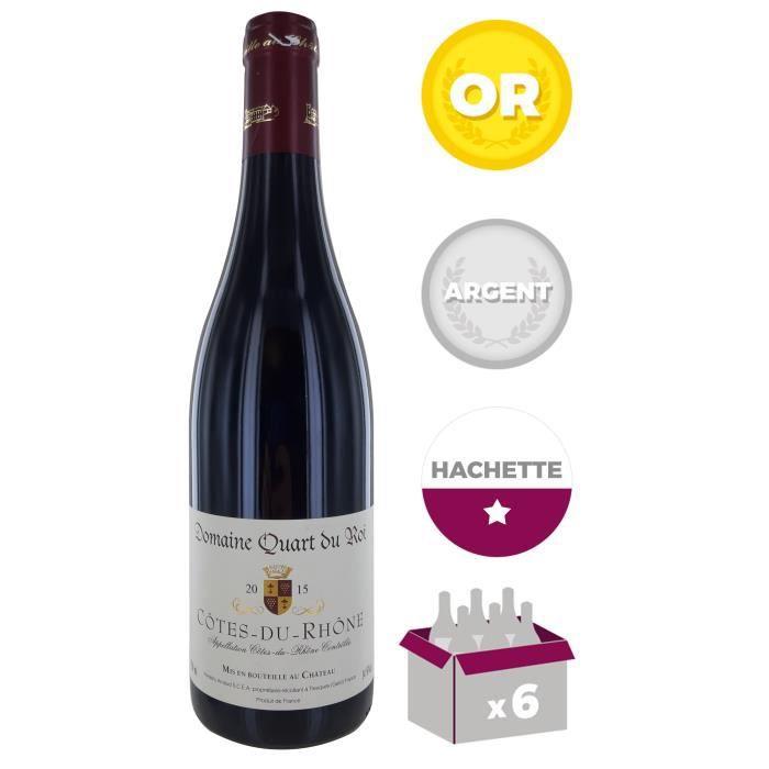 Domaine Quart du Roy 2015 Côtes du Rhône - Vin rouge du Rhône