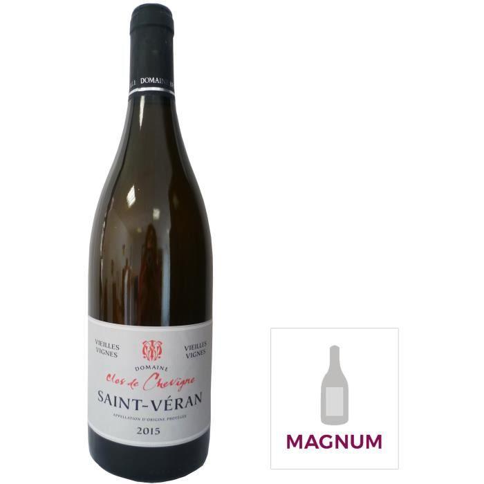 CLOS DE CHEVIGNE 2015 Saint Véran Vieilles Vignes - Vin de Bourgogne - Blanc - 1,5 L