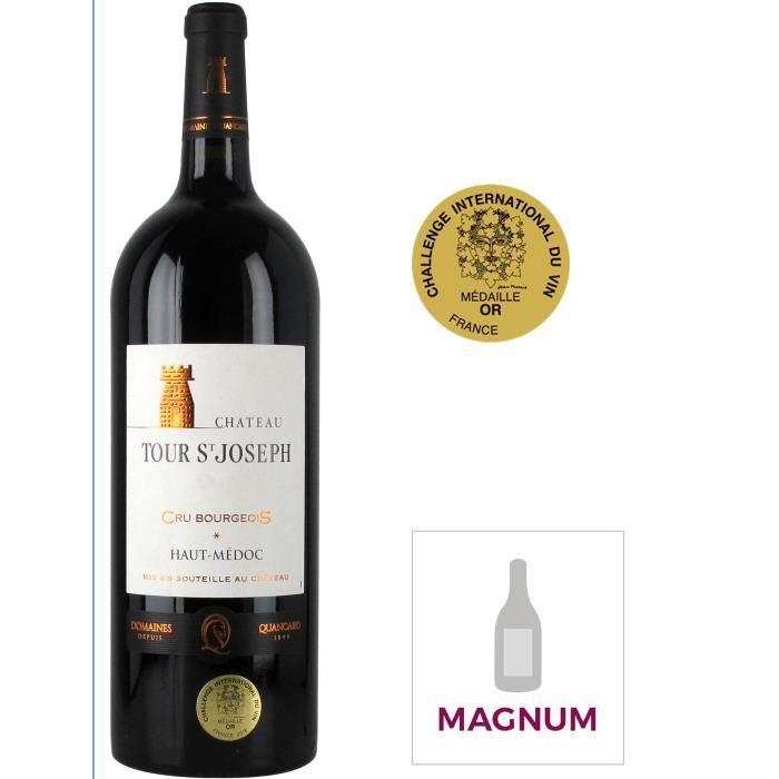 Magnum Château Tour Saint Joseph 2016 Haut-Médoc Cru Bourgeois - Vin rouge de Bordeaux