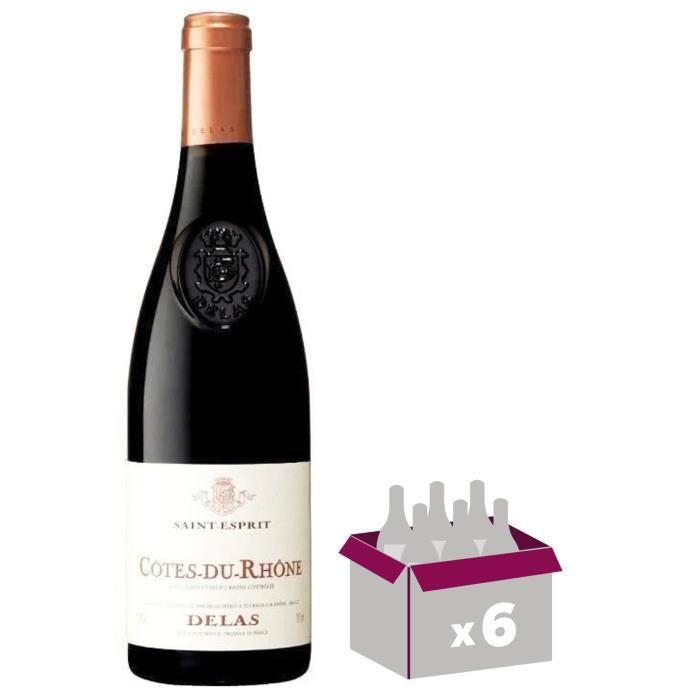 """VIN ROUGE Côtes du Rhône """"Saint Esprit"""" - Delas - 2015 - Vin"""