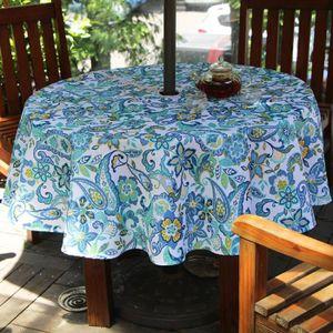 pour Nappe parasol table jardin trou de avec pour XZiukP