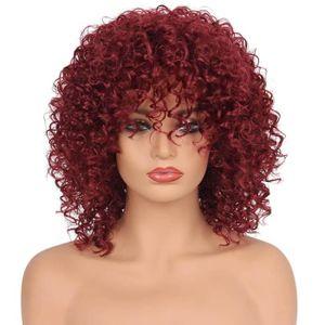 PERRUQUE - POSTICHE Perruques synthétique cheveux bouclés Femme court