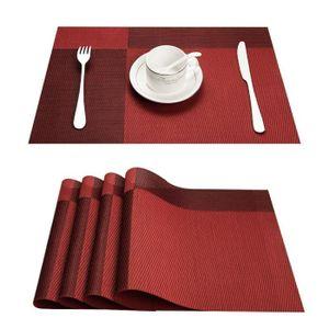 TS-56 45 x 30 cm noir Lot de 4 Sets de table de qualit/é sup/érieure en PVC tress/é Le set de table a un bel aspect avec sa mati/ère tiss/ée et brillante /Él/égant Id/éal pour habiller vos tables de f/&ecir