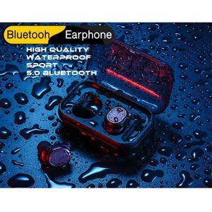 CASQUE - ÉCOUTEURS Ecouteurs Bluetooth 5.0 TWS-8 noir Casques sans fi