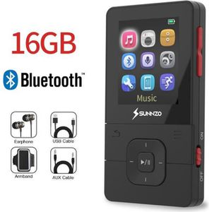 LECTEUR MP3 SUNNZO Lecteur MP3 Bluetooth,Lecture 50H,Audio San