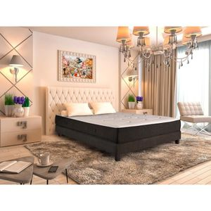 ensemble 160 x 200 cm achat vente ensemble latex de matelas et sommier pas cher. Black Bedroom Furniture Sets. Home Design Ideas