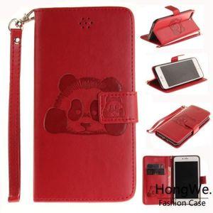 HOUSSE - ÉTUI Pour Apple iPhone 7 Plus-8 Plus Rouge Embossage Cl