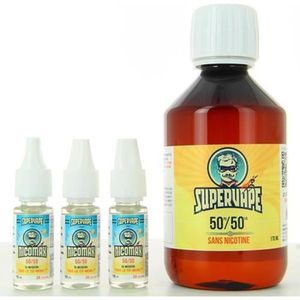 LIQUIDE E-liquide  Base Easy2Mix 50/50 3mg 200ml SuperVape