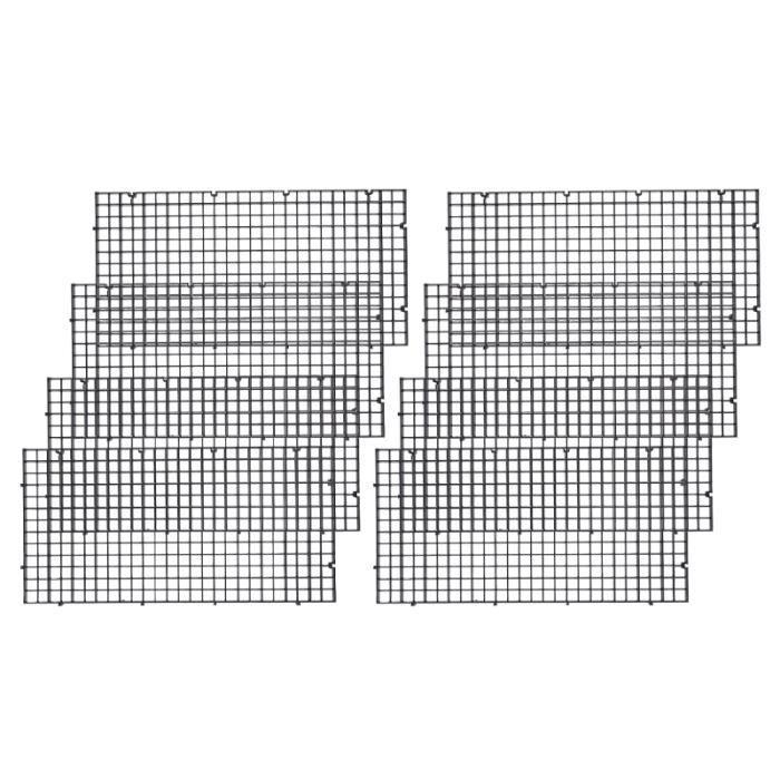 8pcs grille de filtre en plastique durable panneau de séparation de de patition pour aquarium FILET DE PECHE