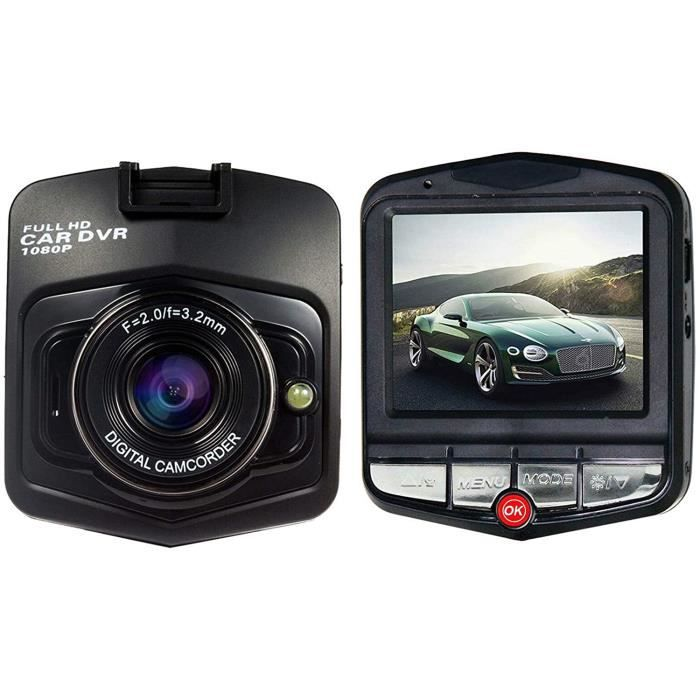 Caméra de bord , caméra de bord Full HD 1080P pour voitures, avec écran LCD TFT 2,5 pouces, vision nocturne IR, enregistrement [297]