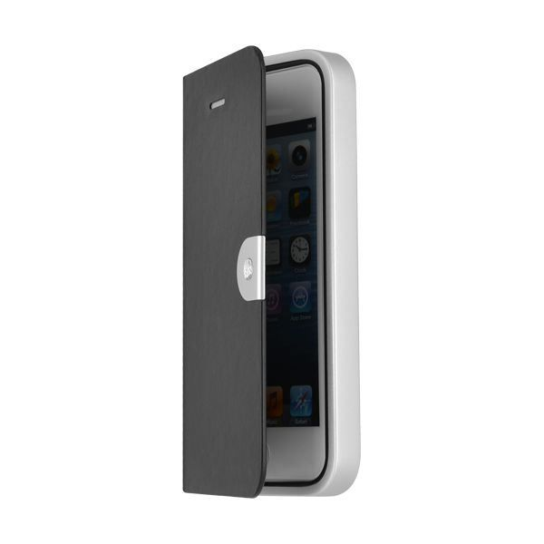 SWAROVSKI Etui Iphone 5 Avec Cadre Métal - Noir