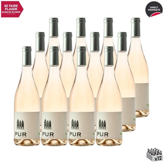 Coteaux d'Ensérune Pur Syrah sans sulfites Rosé 2020 - Lot de 12x75cl - Domaine La Provenquière - Vin IGP Rosé du Languedoc - Roussi